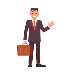 flat design character businessman vector image