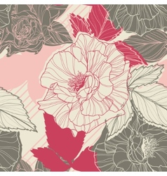 Gentle floral seamless pattern with handdrawn vector image vector image