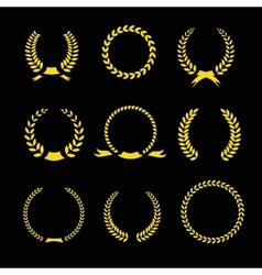 Laurel Wreaths Collection vector image vector image