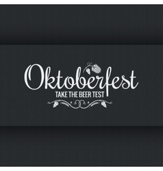 Oktoberfest vintage logo design background vector image