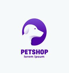 petshop abstract sign emblem icon or logo vector image vector image