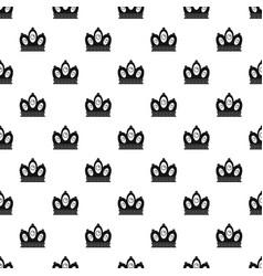 queen crown pattern vector image vector image