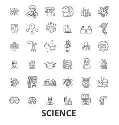science technology scientist ab test molecule vector image
