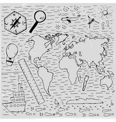 World Hand drawn map vector image vector image