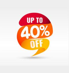 40 off discount sticker vector image