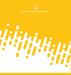 Abstract yellow mustard rounded lines diagonal vector