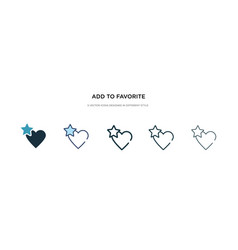 Add to favorite icon in different style two vector