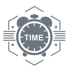 alarm clock logo simple gray style vector image