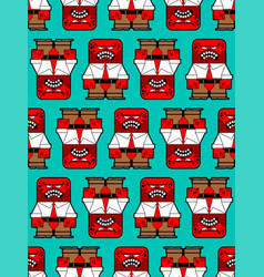 anger pattern seamless evil worker angry red boss vector image