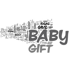 babygift text word cloud concept vector image