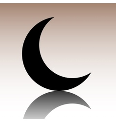 Black Moon icon vector image