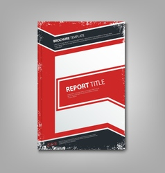 Brochure book or flyer with abstract blue red vector