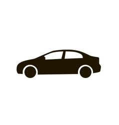 Car icon Black silhouette of automobile isolated vector image