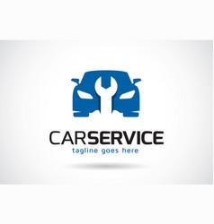 Car service logo template design emblem design vector