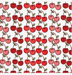 Cherry fruit background decoration design vector