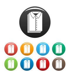 clean shirts icons set color vector image