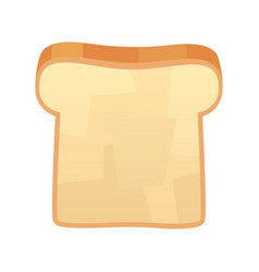 Closeup slice bread isolated on white vector
