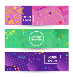color abstract geometric background promotion web vector image