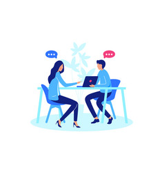 conversation between two person vector image