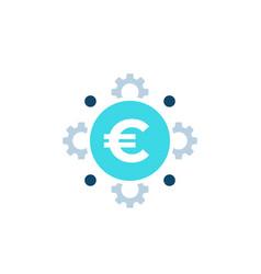 Cost optimization financial efficiency icon vector