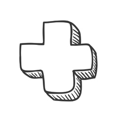 Cross shape icon Medical and Health care design vector