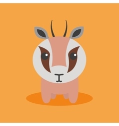 Cute cartoon gazelle vector