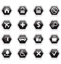 Diet and fitness theme icons set vector image