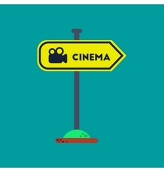 flat icon on background cinema sign vector image