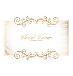 floral frame background in ornamental decorative vector image