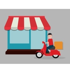 food delivery related icons image vector image