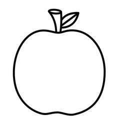 fresh apple on white background vector image
