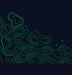 Green topographic map lines background vector