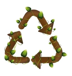 Grouth recycling symbol shape with creepers vector