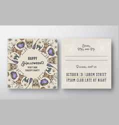 halloween abstract invitation card vector image