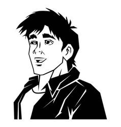 handsome-boy vector image