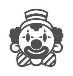 Happy clown head vector