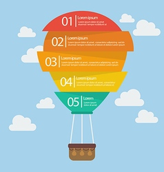 Hot air balloon infographic vector