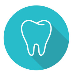 human tooth stomatology icon in trendy thin line vector image