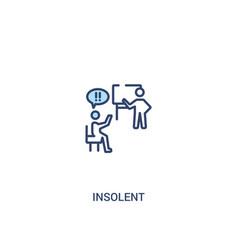 Insolent concept 2 colored icon simple line vector