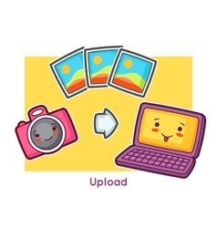Kawaii gadgets funny card Doodles with pretty vector