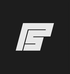 letter ps logo design vector image