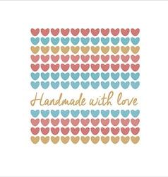 logo handmade template vector image