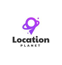 logo location gradient line art style vector image
