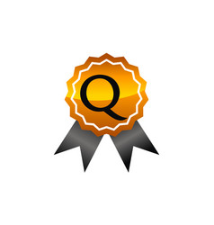 Logo quality letter q vector