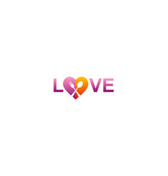 love food text logo vector image