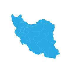 map of iran high detailed map - iran vector image