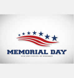 memorial day stars and stripes vector image
