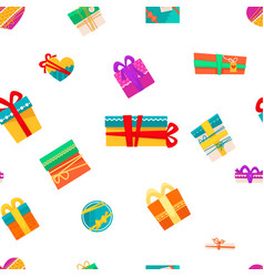 merry christmas presents in boxes with wrapping vector image