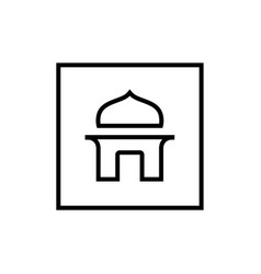 mosque logo icon lineart style sign vector image