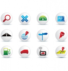 Navigation buttons vector